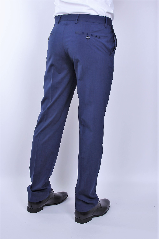 Pantalon de vestir de hombre color azul · PERTEGAZ ...